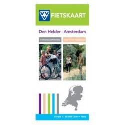 fiets- en wandelkaart Den Helder - Amsterdam (VVV)