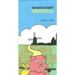 Wandelkaart wandelnetwerk Merselo (bij Venray)