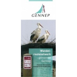 Wandelkaart wandelroutenetwerk gemeente Gennep