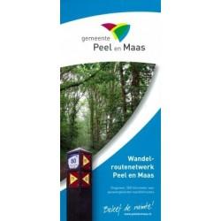 Wandelkaart wandelnetwerk Peel en Maas