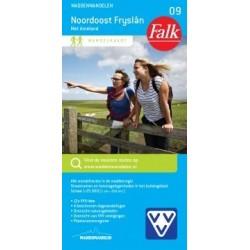 Wandelkaart Noordoost Friesland (Falk)