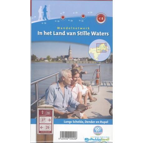 Wandelkaart in het land van stille waters + wandelgids