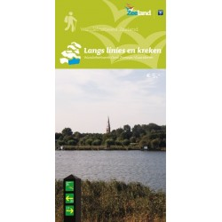 Wandelkaart Langs Linies en Kreken, wandelnetwerk Oost Zeeuws-Vlaanderen