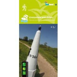 Wandelkaart Grenzeloos wandelen, wandelnetwerk West Zeeuws-Vlaanderen