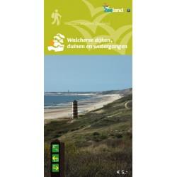 Wandelkaart Walcherse dijken, duinen en watergangen, wandelnetwerk Walcheren