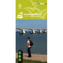 Wandelkaart Eindeloos Eiland, wandelnetwerk Noord-Beveland