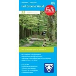 Wandelkaart Het Groene Woud (Falk)