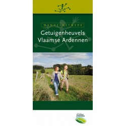Wandelkaart wandelnetwerk Getuigenheuvels Vlaamse Ardennen