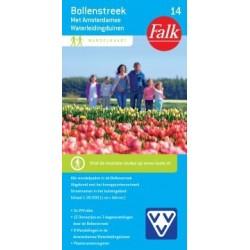 Wandelkaart Bollenstreek met Amsterdamse Waterleidingduinen (Falk)