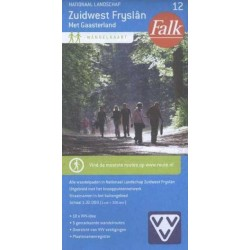Wandelkaart Zuidwest Friesland (Falk)