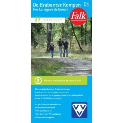 Wandelkaart De Brabantse Kempen (Falk)